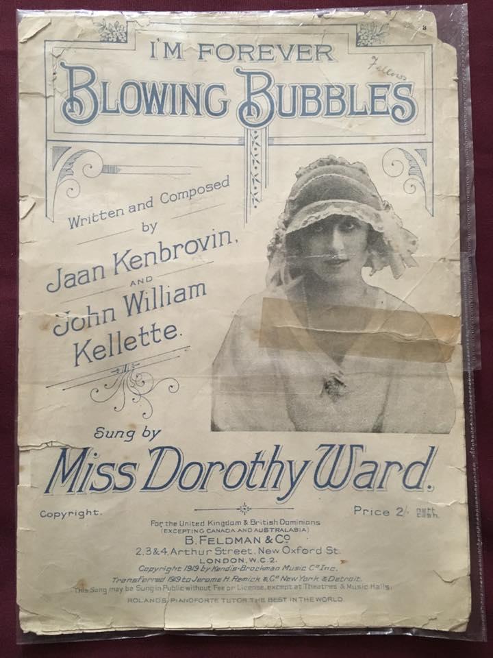 1920 'BUBBLES' SHEET MUSIC
